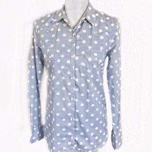 Planet Gold Polkadot Button Down Shirt Nordstrom